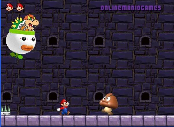 Mario running challenge first level