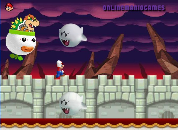 Mario running challenge level 4