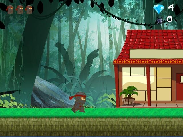 Ninja Ben running level 5