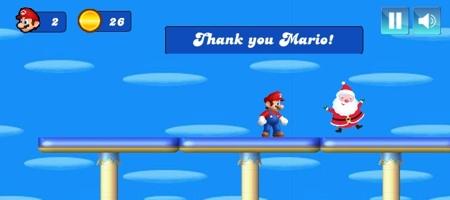 Mario Christmas Challenge Game featured