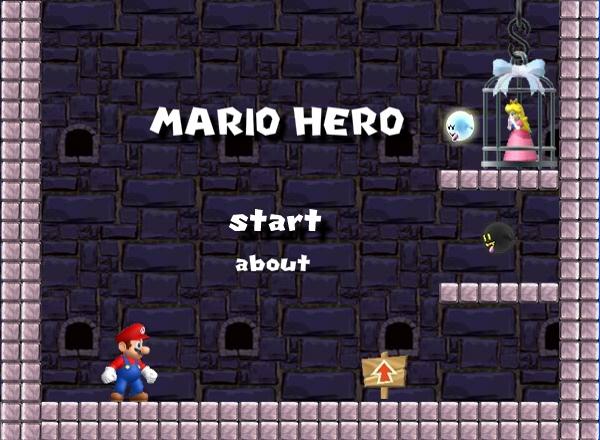 Mario hero start menu