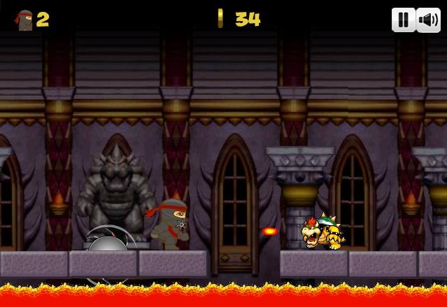 Ninja Ben in Mario's world boss_level