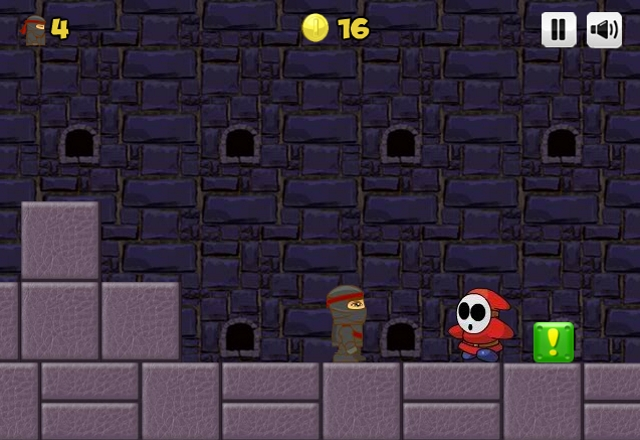 Ninja Ben in Mario's world level 3