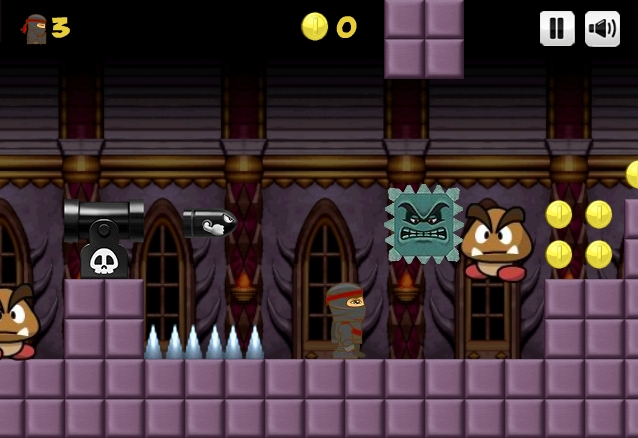 Ninja Ben in Mario's world level 4