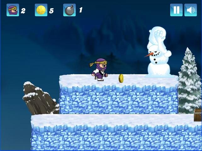 Ninja Ben vs evil snowman