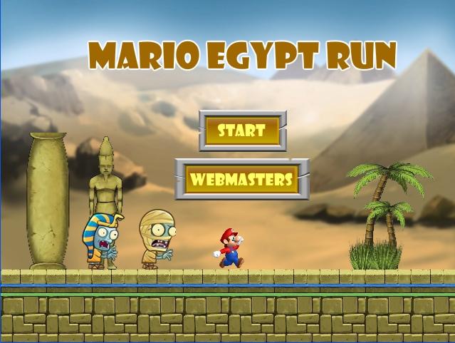 Mario Egypt Run - Start screen