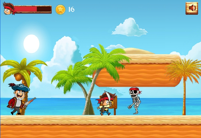Pirate run vs skeleton