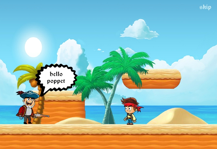 Pirate run animation