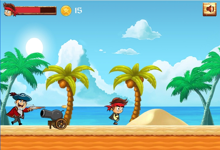 Pirate Run Away shooting