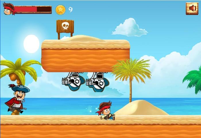 Pirate Run Away slide