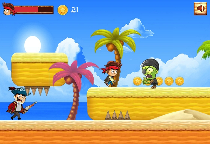 Pirate Run Away vs zombie