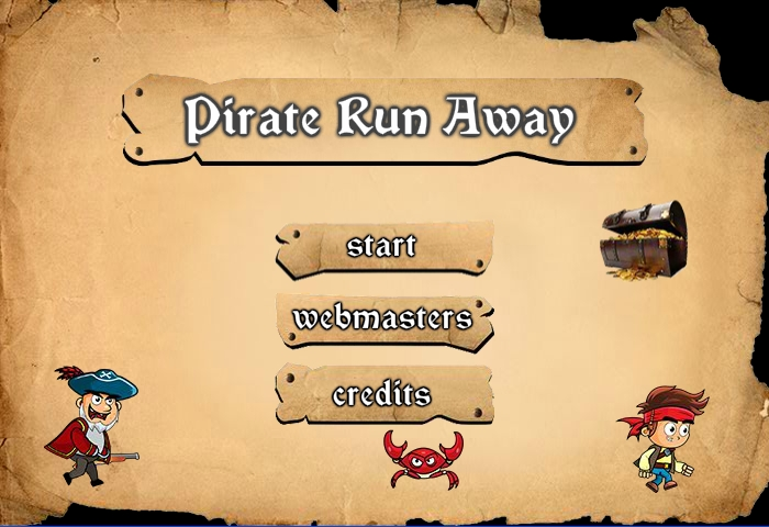 Pirate run away game menu