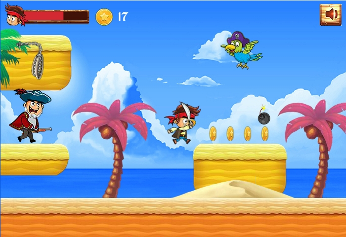 pirate run away vs parrot