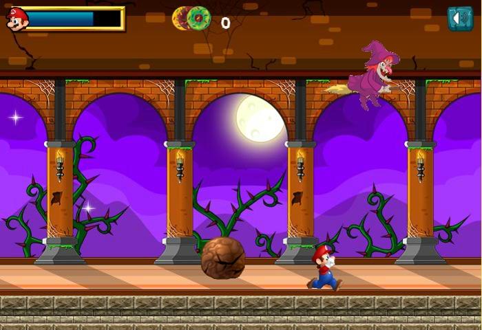 Cursed Super Mario boss fight screenshoot