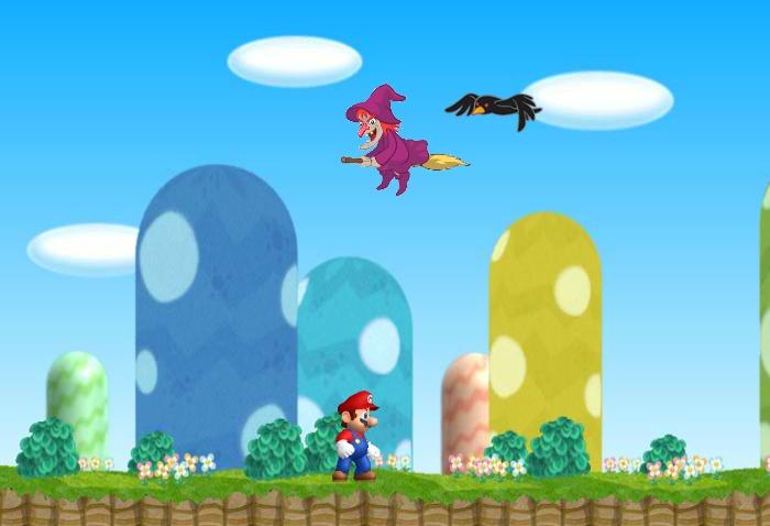 Cursed Mario intro scene