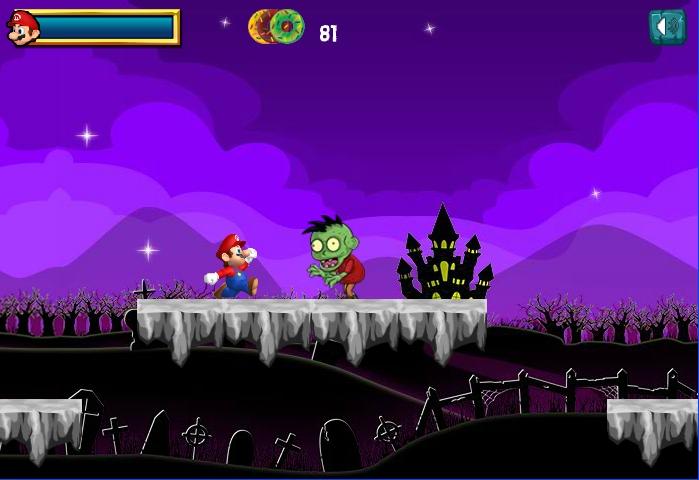 Cursed Super Mario vs zombie