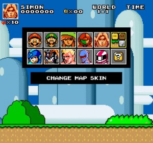 Super Mario Bros Crossover 3 character select map2