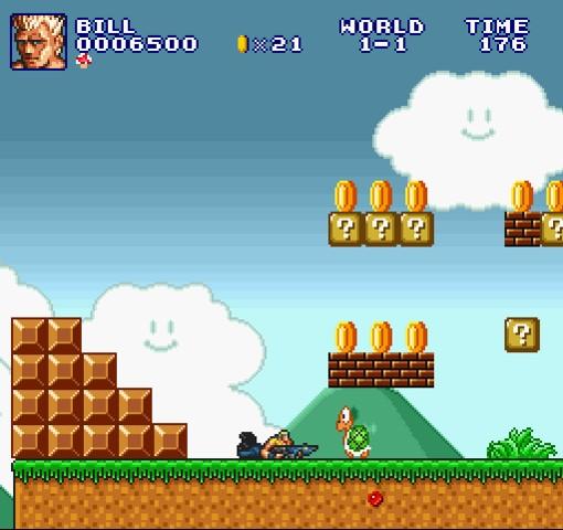 Super Mario Bros Crossover 3 Contra play
