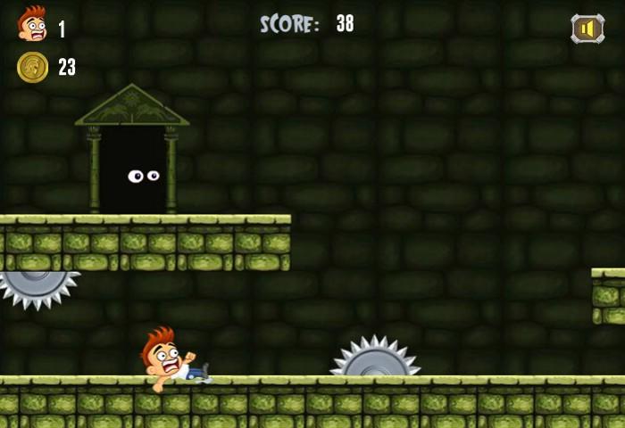 Freddy Nightmare Run 2 game circular saw obstacles