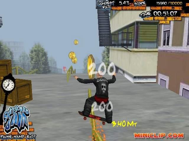 Skateboard jam game