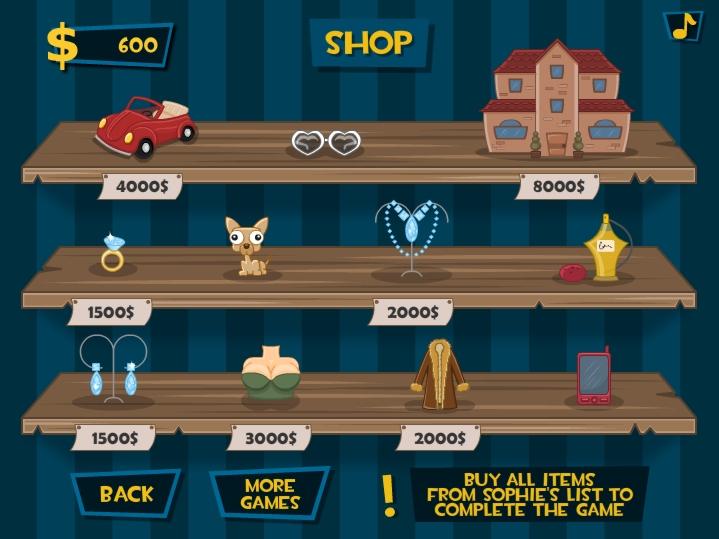 Super sneak robber Sophie inventory