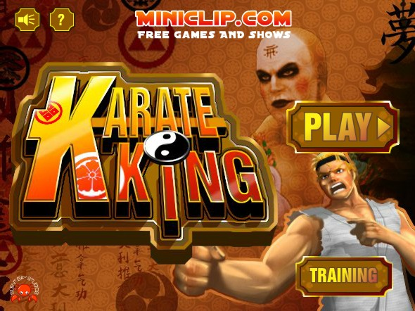 Karate king start menu