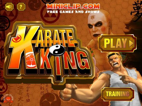 Karate king start menu