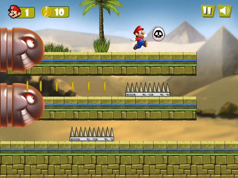 Mario Egypt Run game