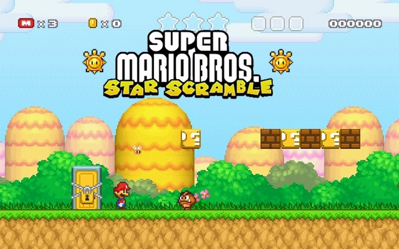Mario Star Scramble game